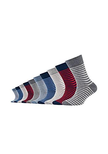 Camano Unisex Kinder Socken 10er-Pack ca-soft Stars und Stripes mit weichem Komfortb& light grey mix, 39-42