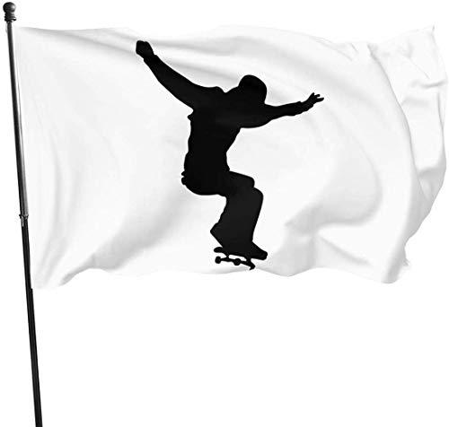 Feng Mei Yan Jiu Fahnen Skateboard Skater Decorative Garden Flags Outdoor Artificial Flag for Home Garden Yard Decorations 3x5 Ft