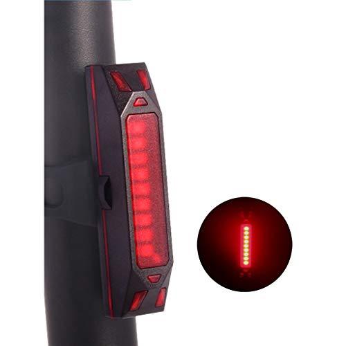 CYSHAKE Fahrradrücklicht 360 ° Rotation IPX4 Wasserdichter wiederaufladbarer USB Fahrradhelm Rucksack Roller LED Lampe Radfahren Warnung Hohe Intensität