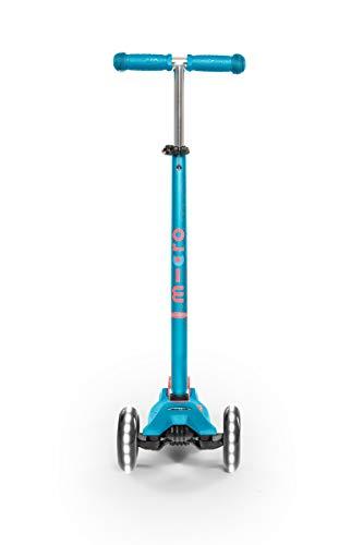 MICRO Maxi Deluxe LED-Roller, Jugendliche, Unisex, Karibikblau, 67-91 cm