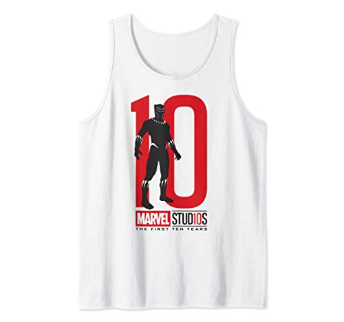 Marvel Studios First Ten Years Black Panther Silhouette Tank Top