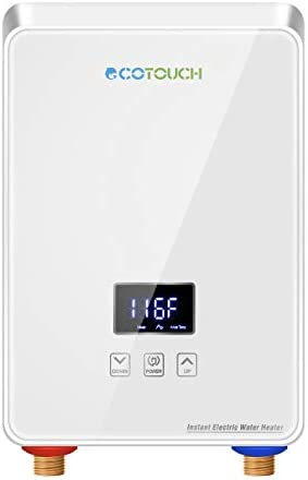 Tankless Water Heater Electric 240V, On Demand Hot Water Heater Digital Display 5.5kW,Electric Instant Hot Water Heater,Overheating Protection, Black