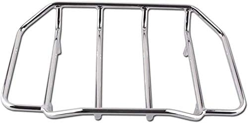 discount Mallofusa Motorcycle Tour Pack Trunk Luggage Rack Mount lowest Compatible for Tour Paks Glide Road King outlet sale Silver outlet sale