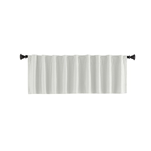 Style Selections 15-in L White Bernard Tailored Valance