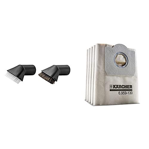 Kärcher Kit de pinceles aspiradores (2.863-221.0) + Bolsa de filtro de papel (6.959-130.0) blanco