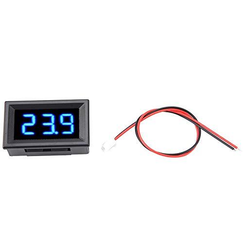 Spannungsanzeigefeld LED-Anzeigefeld Digitalanzeige Spannungsmesser, Digitalvoltmeter Messgerät 0,56 Zoll Zwei-Draht-Volt-Anzeigefeld, DC 2,5-30 V LED-Anzeigefeld Digitalvoltmeter (Blau)