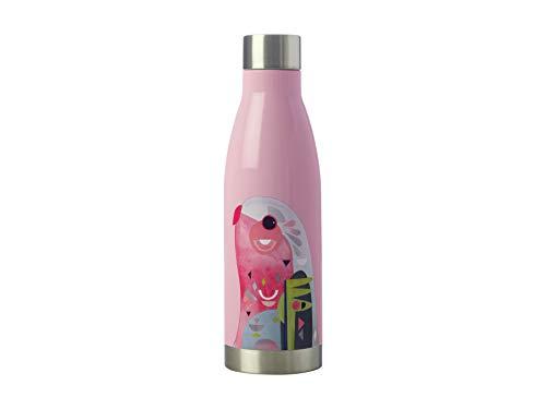 Maxwell und Williams Isolierte Wasserflasche, Papageien-Design, Edelstahl 18/10, Rose, 500 ml