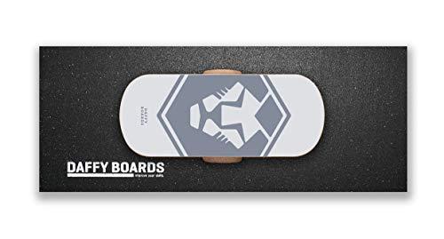 DAFFY BOARDS improve your skills. Balance Board Classic Set mit Korkrolle und Bodenschutz Outdoormatte (Big)