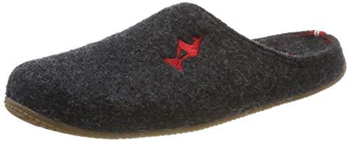Living Kitzbühel Unisex Pantoffel Kitzbühel Gams mit Fußbett Pantoffeln, Grau (Anthra 0600), 41 EU