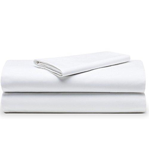 The White Basics - Colección Cadaques - Juego de sabanas Percal de 200 Hilos de 100% Algodon Peinado (Cama de 105 cm)