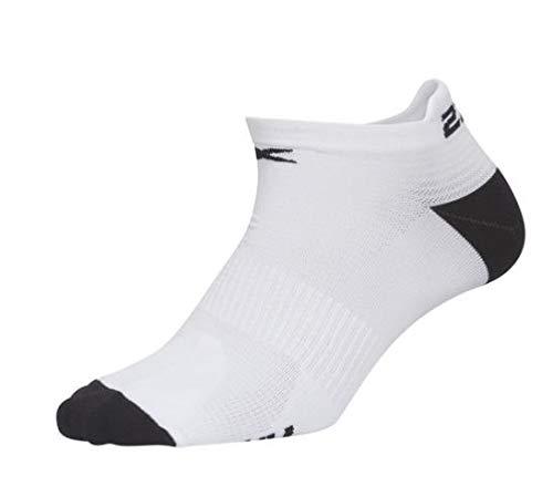 2XU Herren Ankle Sock-MQ5336e Socke, White/Outer Space, L-XL