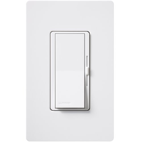 Lutron DVWFSQ-FH-WH 1.5 Amp Diva Single-Pole or 3-Way Fan Control, White