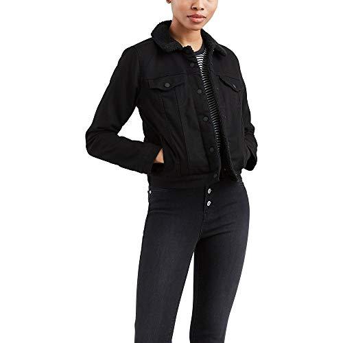 Levi's Damen Original Sherpa Trucker Jackets Jeansjacke, Soft Ultra Black, Mittel