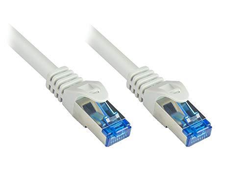 Cable de Red SmartFlex Cat.6A, 2 m, ultraflexible, 10 Gigabit, Escalera de Cobre, S/FTP, Revestimiento de TPE Resistente a los Rayos UV, sin halógenos, Color Gris