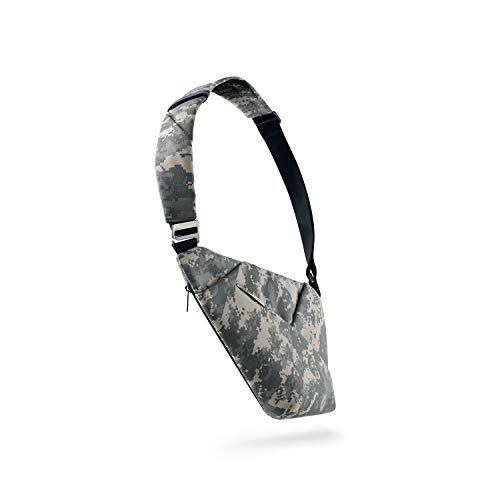 NIID D1 Shoulder Bag Chest Bag Men's Shoulder Bag Slim Backpack Multipurpose Daypack (Charcoal, Right Hand), camouflage (Green) - NID10060