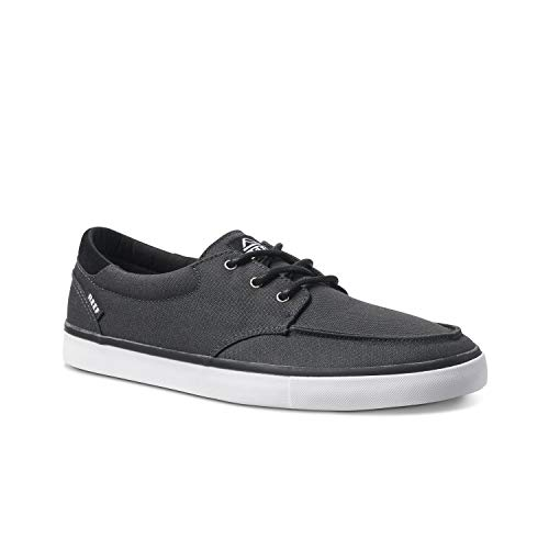 Reef Deckhand 3 | Premium Shoes for Men with Classic Styling for Street, Skate, Or Surf Sneaker | Black/White | Size 12