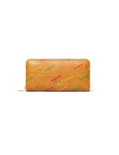 Desigual Damen Mone_intra Zip Around Geldbörse, Beige (Camel), 2x9.5x19 cm