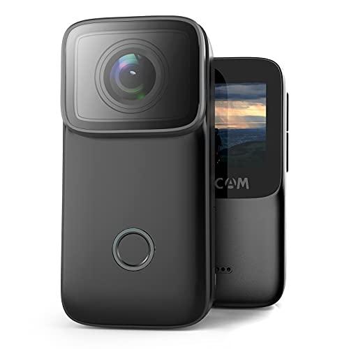 SJCAM 4K/24FPS Action Camera 16MP HD Waterproof Video Cameras154° Wide-Angle Sports Camera 131FT Underwater Camera Outdoor Vlog Camera(Black)