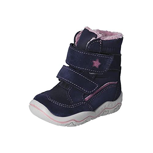 RICOSTA Mädchen Boots HILDIE von Pepino, Weite: Weit (WMS),Sympatex,Winterboots,Outdoor-Kinderschuhe,Nautic/Marine (174),24 EU / 7 Child UK