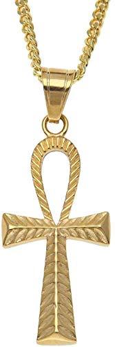 BD.Y Egipto Colgante Cruz Collar Acero Inoxidable Amuleto Egipcio Vint