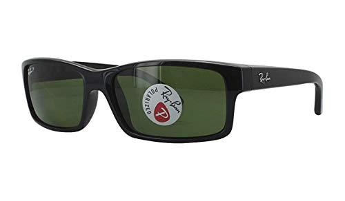 Ray-Ban RB4151-601/2P Sunglasses Black/Polar Green 59mm