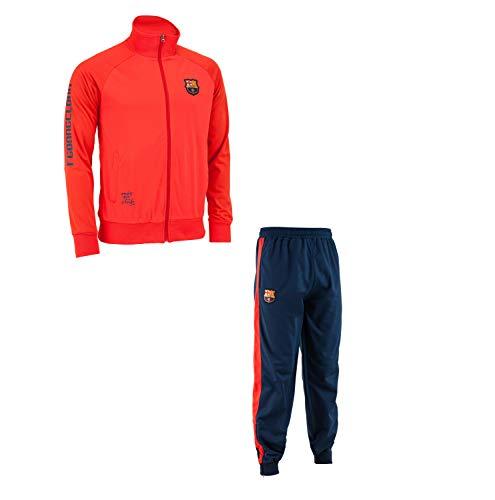 Trainingsanzug Barça, offizielles Produkt von FC Barcelona, Kindergröße, für Jungen 8 Jahre rot