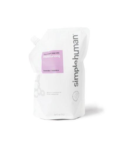 simplehuman Moisturizing Liquid Hand Soap, Lavender, Refill Pouch, 34 Fluid Ounce (Pack of 2)
