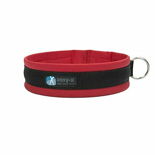 anny-x Collar con inserciones divertidas, talla 8/57-63 cm, color rojo/negro