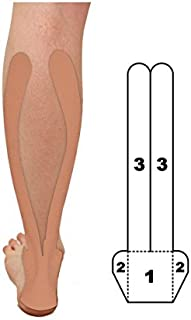 2-Pack - Kindmax Precut Calf & Achilles Support (Beige) - Kinesiology Tape for Calf & Achilles Pain