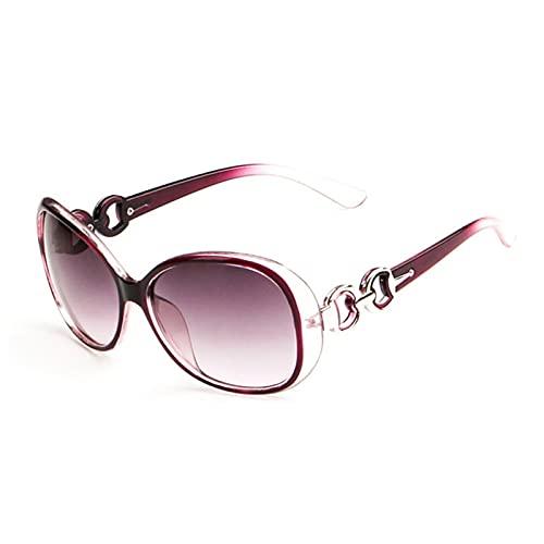 Jishu Gafas de sol para mujer, de gran tamaño, polarizadas al aire libre, de moda, de vacaciones elípticas para viajes de verano