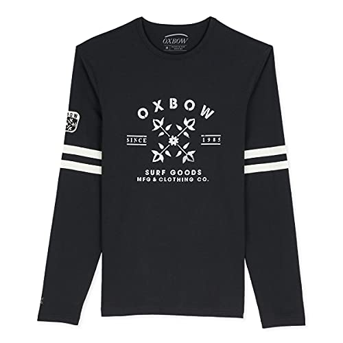 Oxbow N2TOULA Tee Shirt Manches Longues Graphique Homme Noir