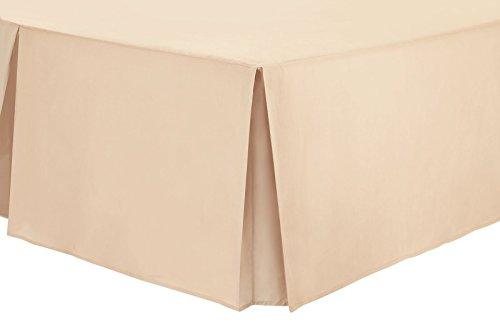 Nimsay Home Bettvolant aus Polyester-Baumwollmischgewebe, unifarben - Einzelbett - grau