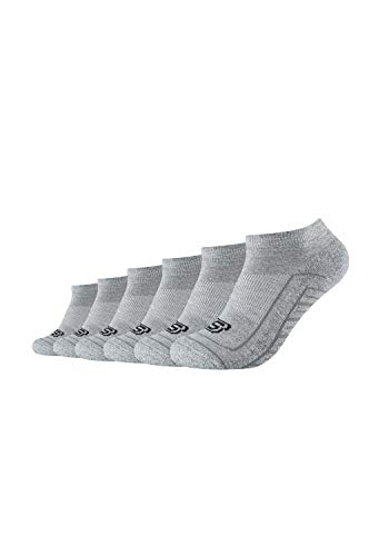 Skechers Unisex Sneakersocken 6er Pack mit gepolsterter Sohle light grey mouliné, 39/42