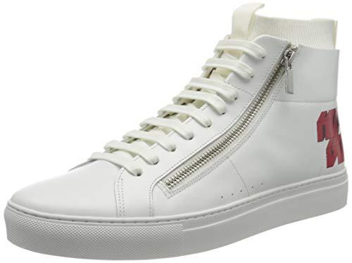 HUGO Futurism Hito Hohe Sneaker, Weiß