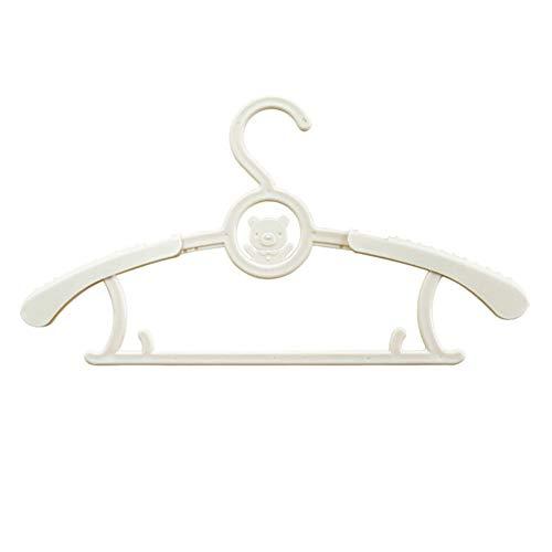Danigrefinb Kinder-Kleiderbügel, 5 Stück, ausziehbar, Kinder-Kleidungsbügel für Babyhosen, ABS, Rose, A