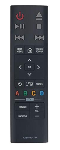 ALLIMITY AK59-00179A Fernbedienung Ersetzen für Samsung Ultra HD Blu-ray Player UBD-K8500 UBD-K8500/XU UBD-K8500/ZF