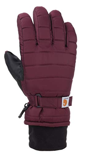 Carhartt Women's Quilts Insulated Breathable Glove with Waterproof Wicking Insert, Crabapple, M