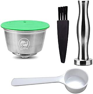 Ceepko Capsule De Café Réutilisable, Capsules De Café Réutilisables en Acier Inoxydable pour Machines à Café Nestlé Dolce ...