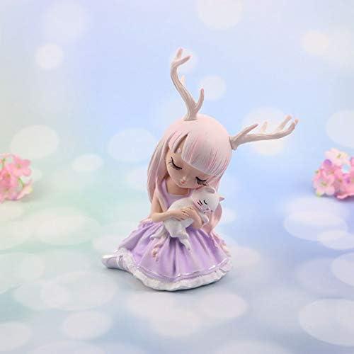 Tgnk Artificial Girls Deer Fairy Ranking TOP1 Lovely Sales results No. 1 Garden Resin Miniatures