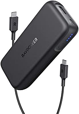 RAVPower Portable Charger 10000mAh Power Bank USB C PD 29W MAX Ultra Slim Battery Pack Compatible with iPhone 11 Pro Max Xs X 8 Samsung S10 Note 10 Pixel 4XL 3XL, iPad Pro 2019 and More