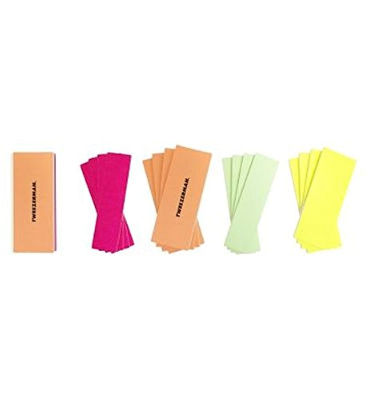 地平線プランテーション北方ツィーザーマンネオンホットファイル、滑らかで、バフ&輝きブロック (Tweezerman) (x2) - Tweezerman Neon Hot File, Smooth, Buff & Shine Block (Pack of 2) [並行輸入品]