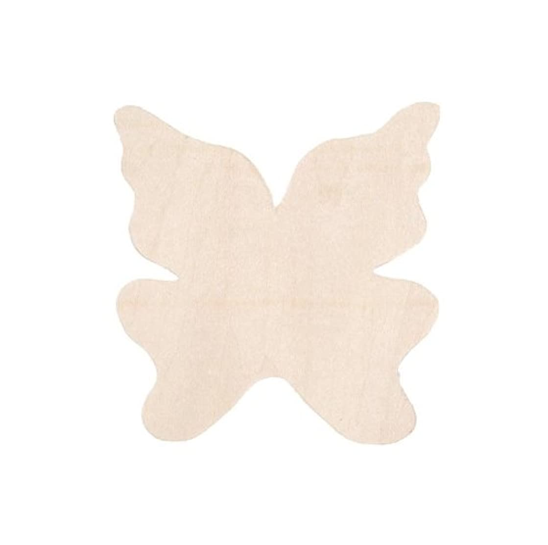 Darice 9133-51 Unfinished Wood Butterfly Shape Cutout, 3-Inch