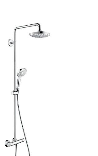 hansgrohe Croma Select E 180 wassersparendes Duschsystem, 4 Strahlarten, Weiß/Chrom