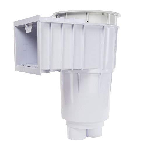 Pentair Sta-Rite 08650-1404 U-3 SwimQuip Skimmer für Beton-Pools, 5,1 cm Slip mit 3,8 cm Slip Reducers, weiß mit weißem Deckel und Rahmen