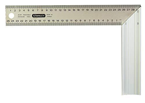 Stanley 1-45-686 Escuadra de carpintero, 200 x 300 mm, Plateado, 300 mm