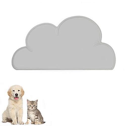 FANJIANG Tappetini Sottociotola per Cani/Gatti, Tappetino per Ciotola di Cibo Antiscivolo per Animali,Perfetto per Proteggere Il Pavimento da Liquidi (Grigio)