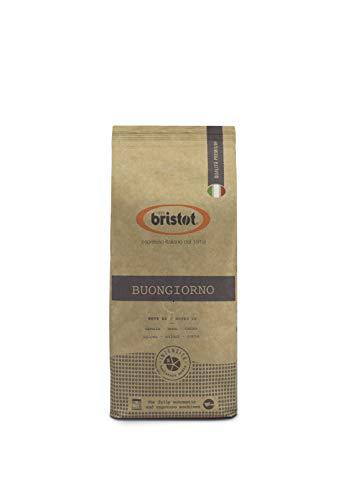 Bristot Buongiorno Italian Coffee Beans | Premium Selection | Italian Espresso Beans Whole | Medium Roast | Low Acid | 1.1 lb/500g