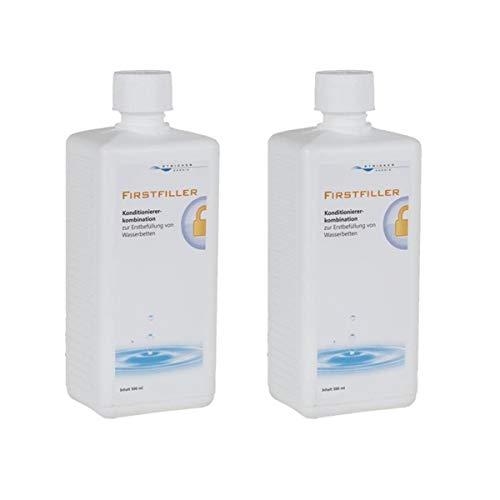 STRICKER Wasserbett Firstfiller 2 x 500 ml - Pflegemittel zur Erstbefüllung oder nach Einem Umzug für Wasserbetten