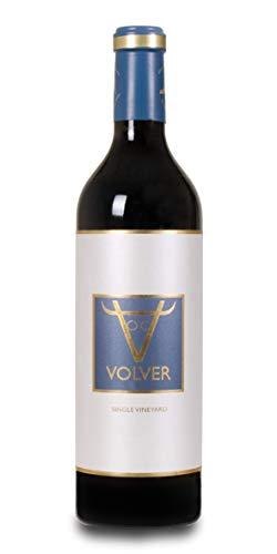 BODEGAS Y VIÑEDOS VOLVER | Vino Tinto Tempranillo | Vino de la tierra de la Mancha | Variedad Uva Tempranillo | Cosecha de 2018 | (1 Botella x 750 ml) |