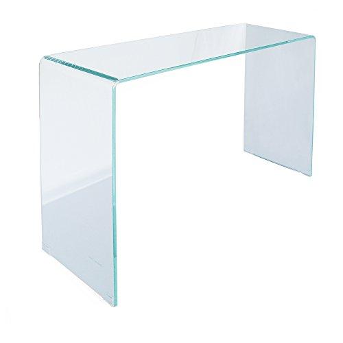 designement Jared Console Verre Transparent 110 x 35 x 75 cm